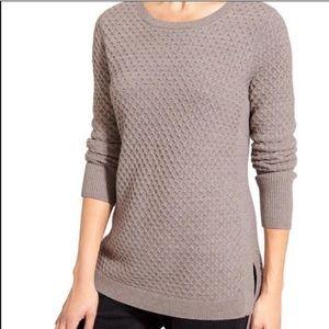 Athleta Honeycomb Sweater Knit Marino Wool